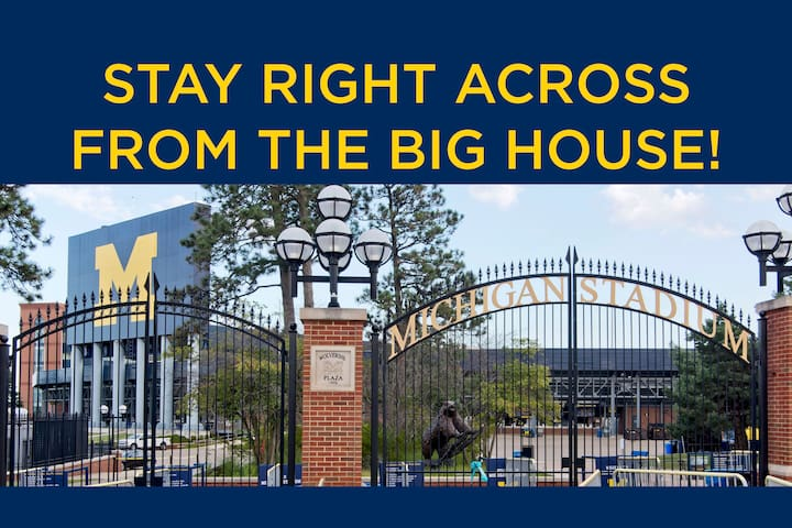 Stay Across from BIG HOUSE this Football Season