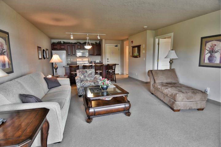 T312 condo on Tagalong Golf Course overlooking Red Cedar lake