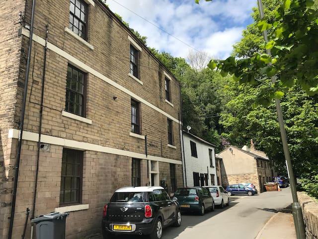 Riverside apartment, New Mills, Peak District