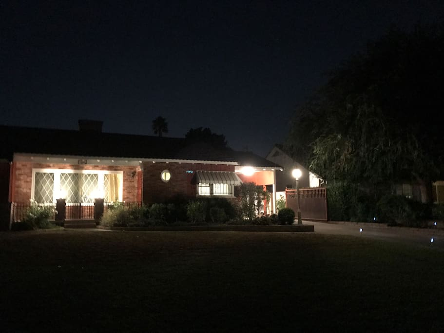 Night view of house