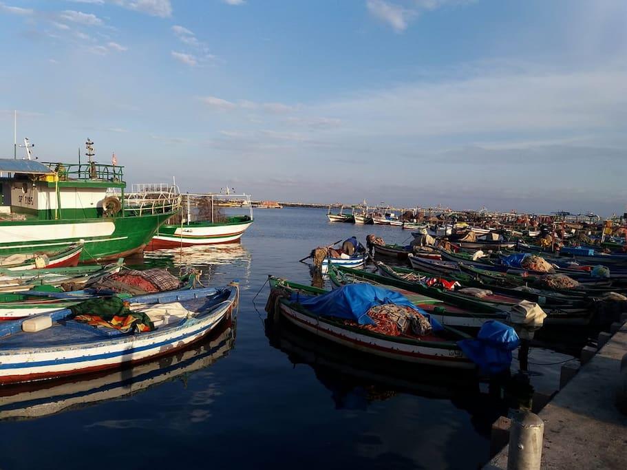 Un coté du port de la Chebba