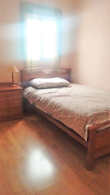 Habitación tranquila y acogedora.