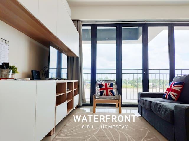 Waterfront (C) 2 BRs-free wifi + Washer + Parking