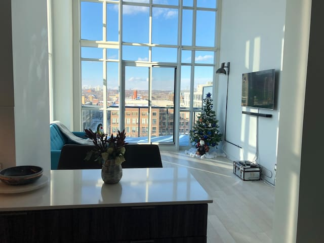 Amazing Condo/Loft in liberty village+Free Parking