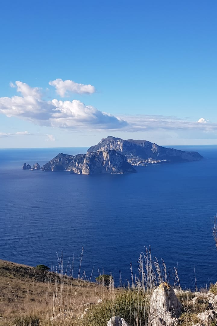 Capri from the Peak of Punta Campanella.
