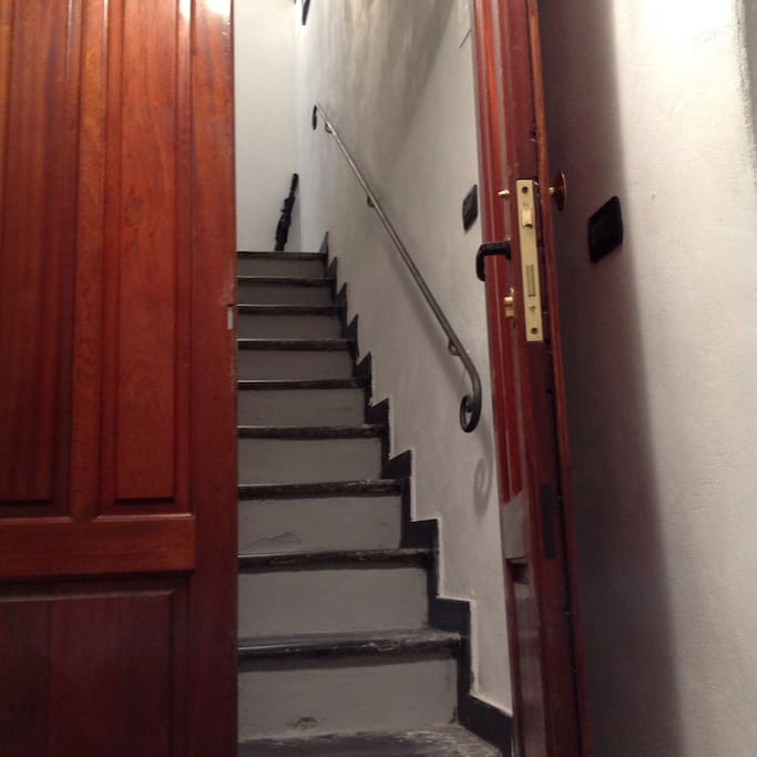 Stairs up to and within apartment for keeping fit!