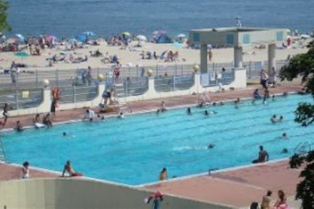 Olympic size swimming pool at Ocean Beach Park.