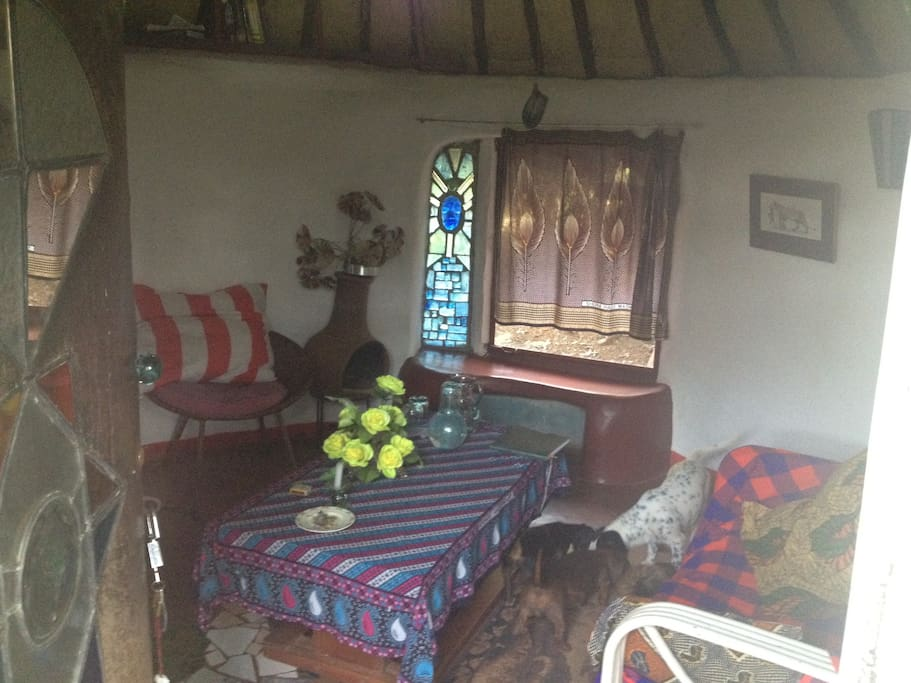Entrance: Living room of the Glass House