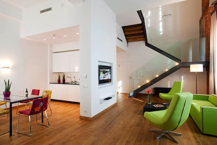 Two-level Design Apartment with two bedrooms