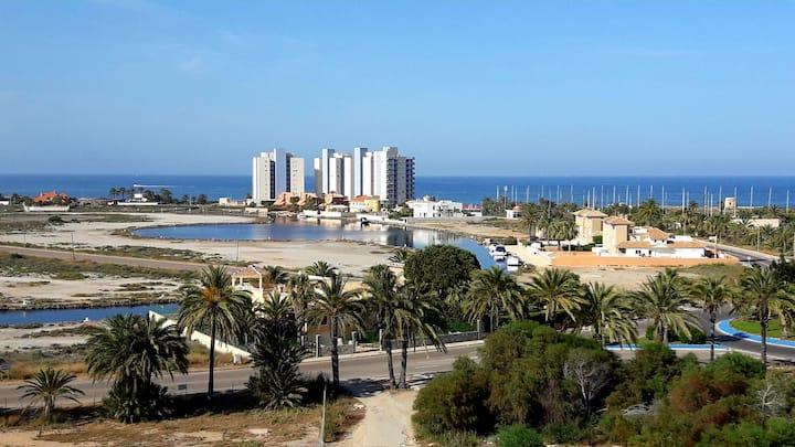 Apto. ideal con vistas al Mar Menor (tiene cuna)