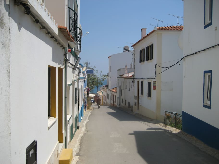 One of the small lanes leading through the village down to the beach
