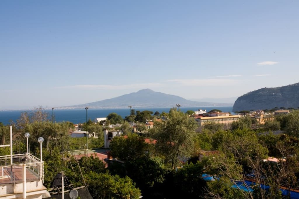 From our roof terrace overlooking the wonderful Bay of Sorrento and Naples