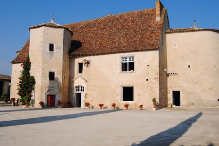 Chambre dans manoir historique  - Montignac charente - ปราสาท