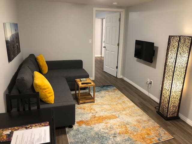 Bright Modern Basement Suite Close to Downtown