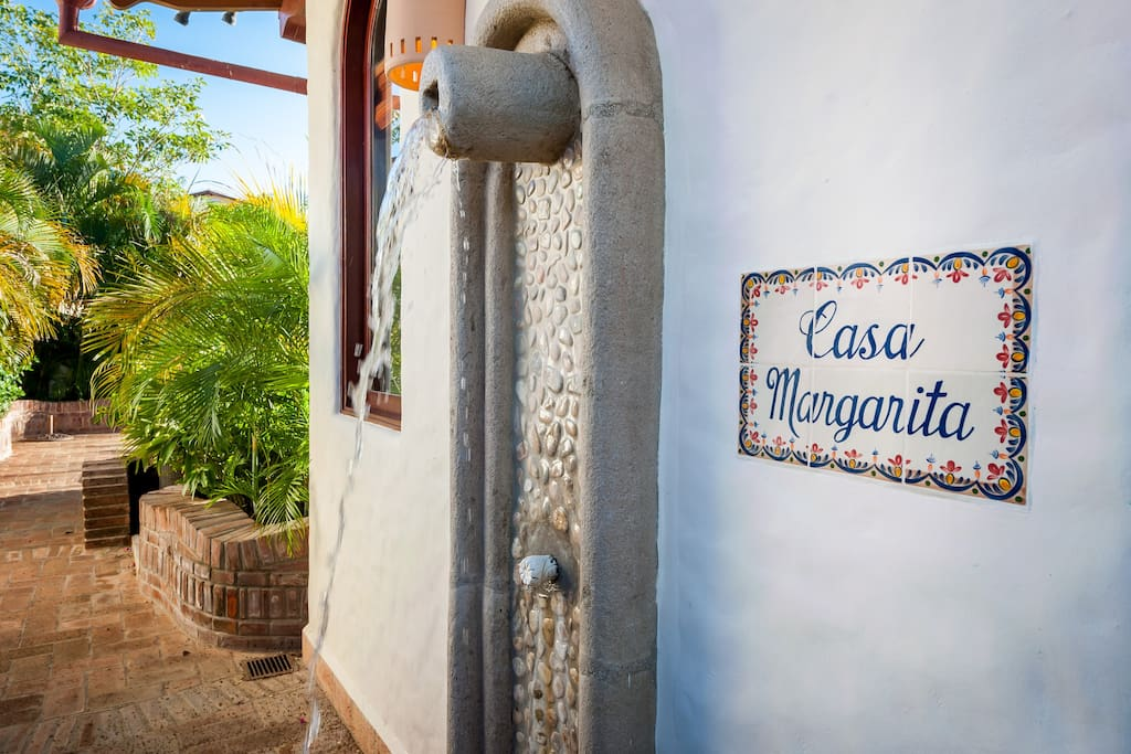No tropical home is complete without and outdoor shower
