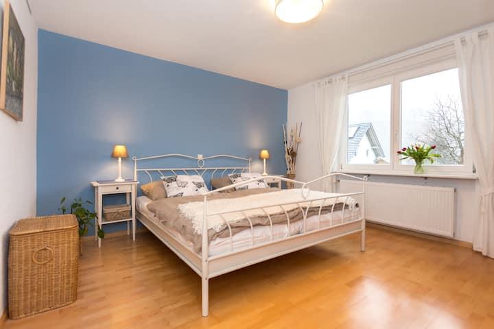 Spacious apartment with garden