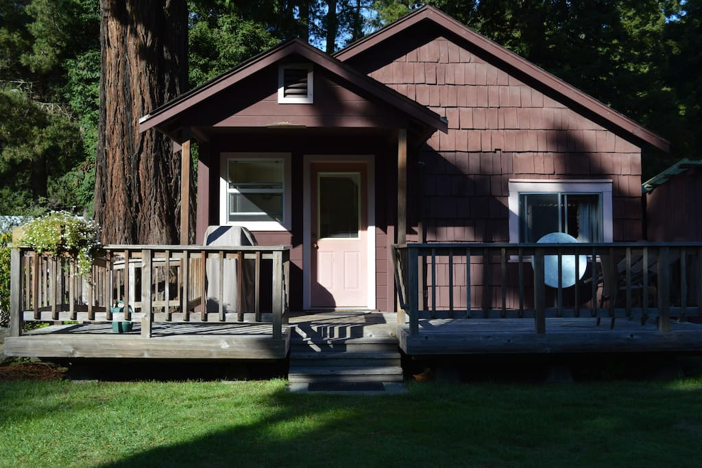 Cabin #1 from the front in the afternoon light.
