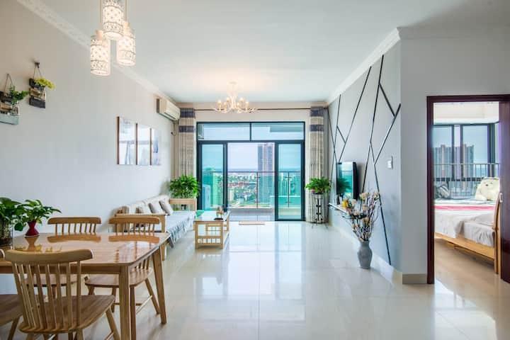 《夏日海湾》海景公寓,近万达,银滩,侨港
