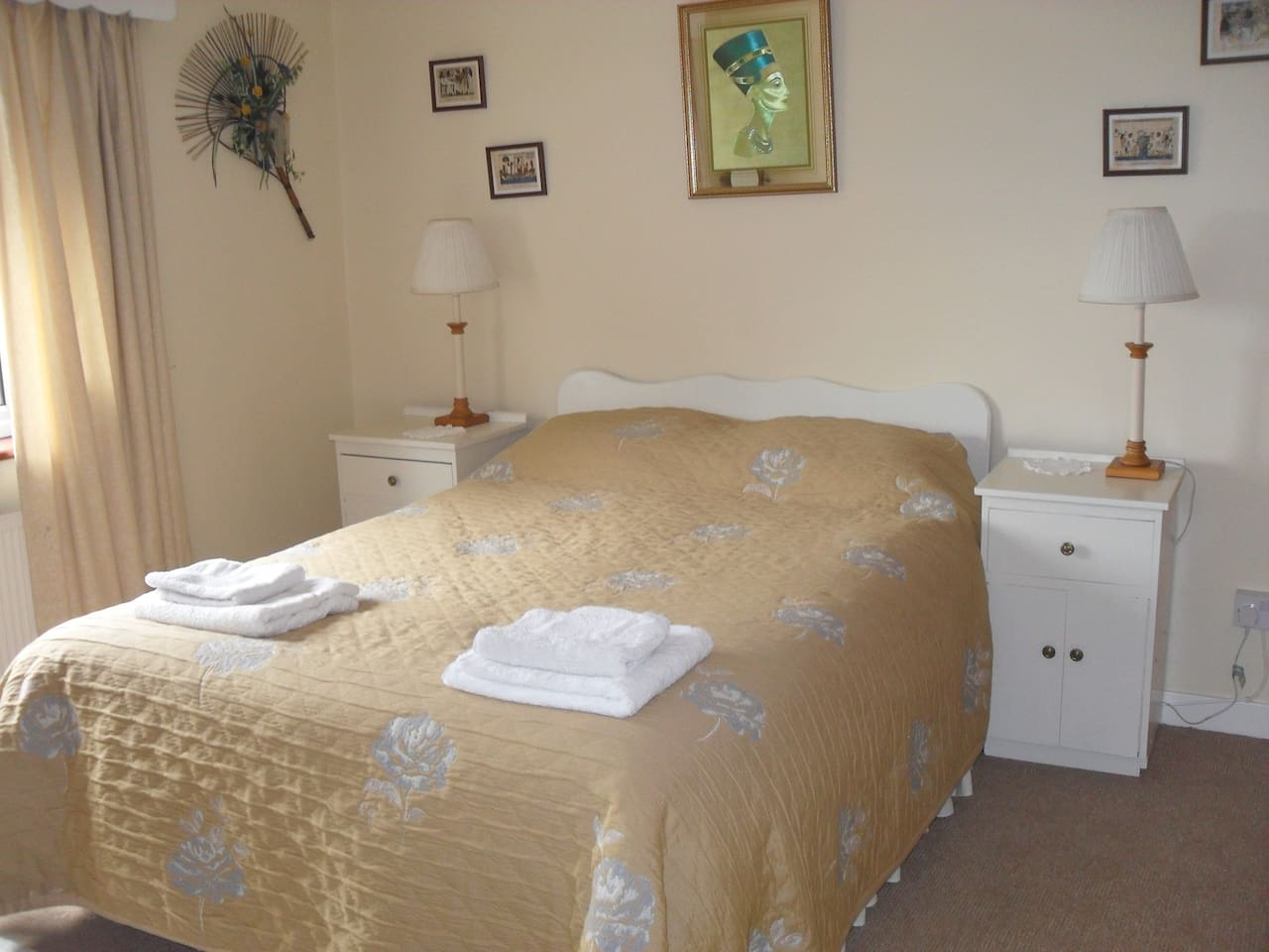 Bright double room with panoramic view