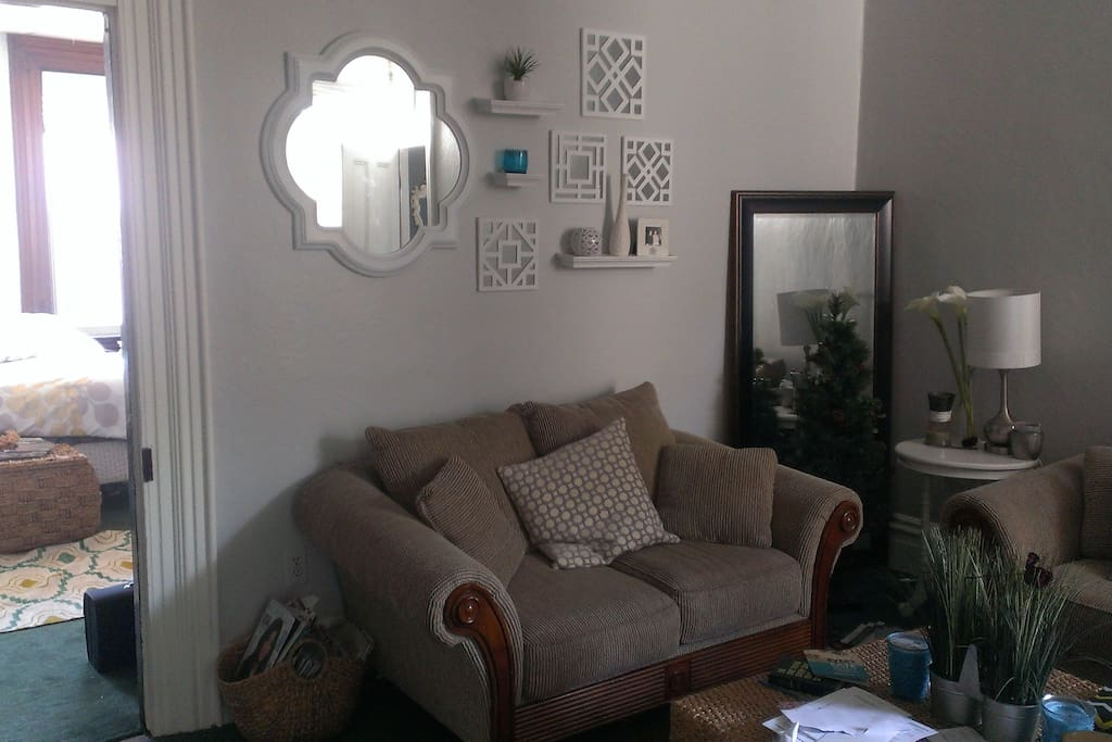 Private living room with cable television and free wi-fi