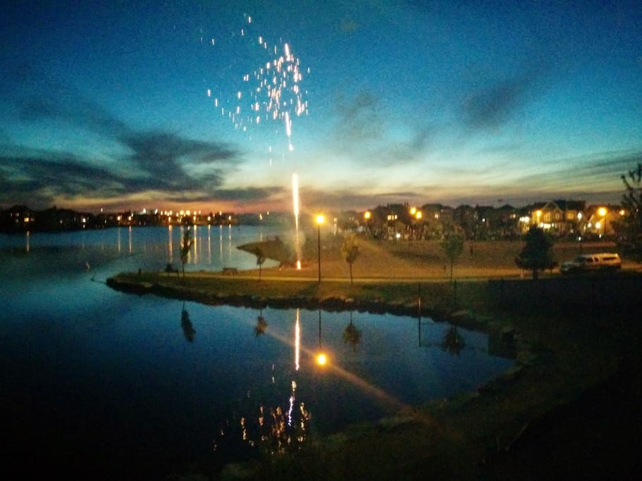 Fireworks at Lake Summerside