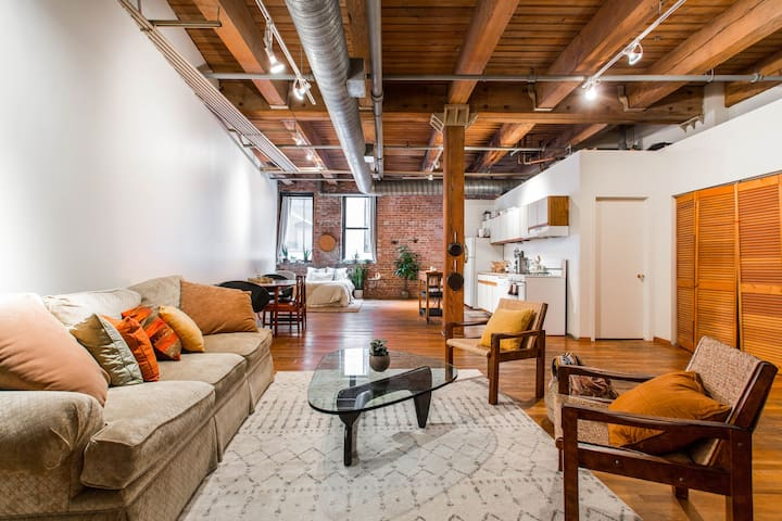 Huge Plant-Filled Fulton Market Loft Sanctuary