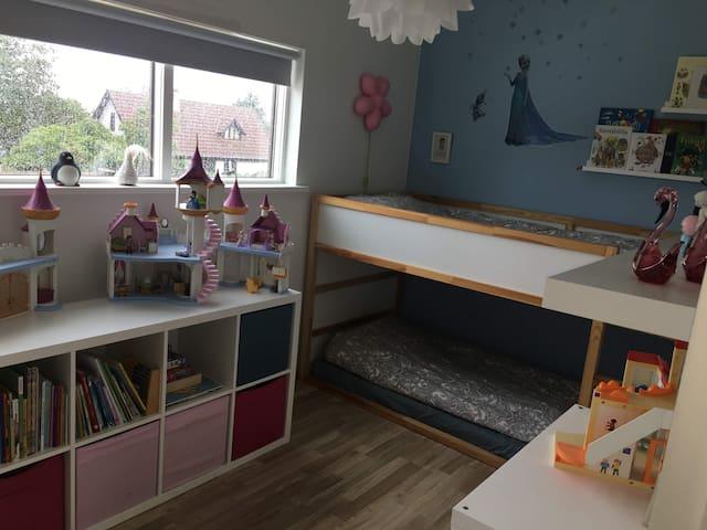 Bedroom on second floor bunk bed 2x 90 cm x 200 cm