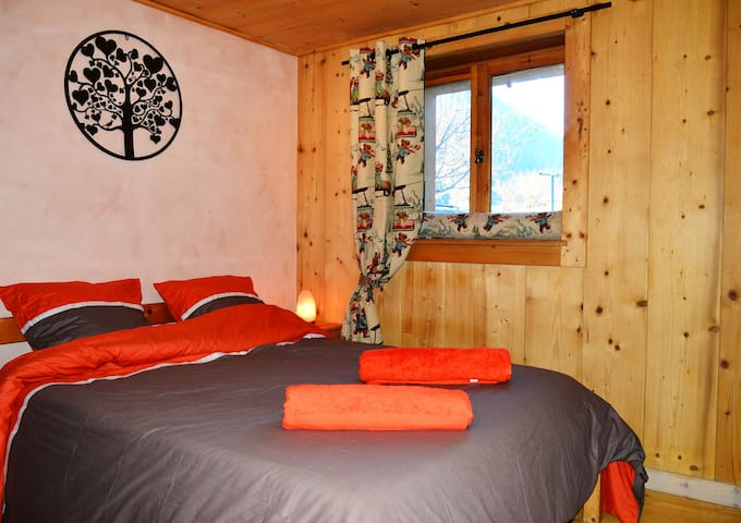 Private room in traditional chalet