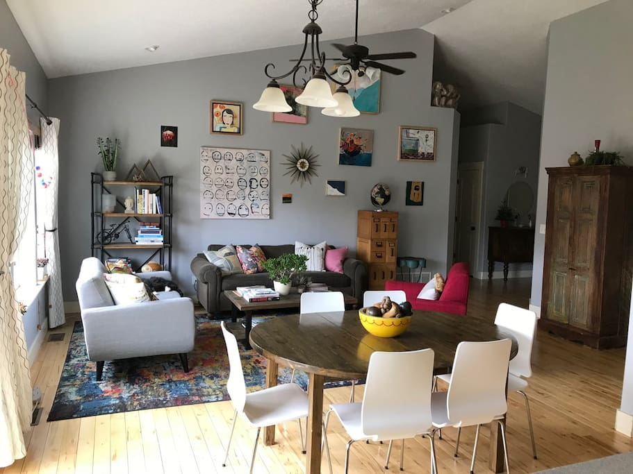 Main living and dining area.