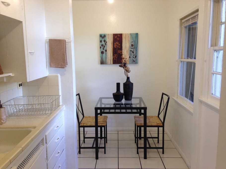 Kitchen nook perfect for enjoying breakfast or your morning coffee.