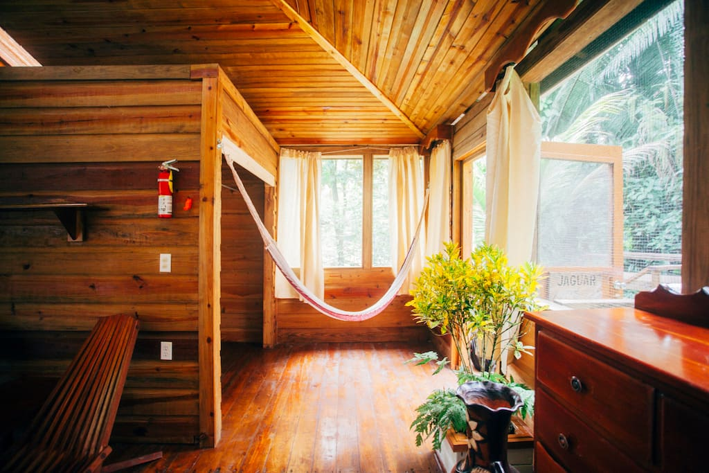The hammock inside your Cabana is a great place to hang out and relax.