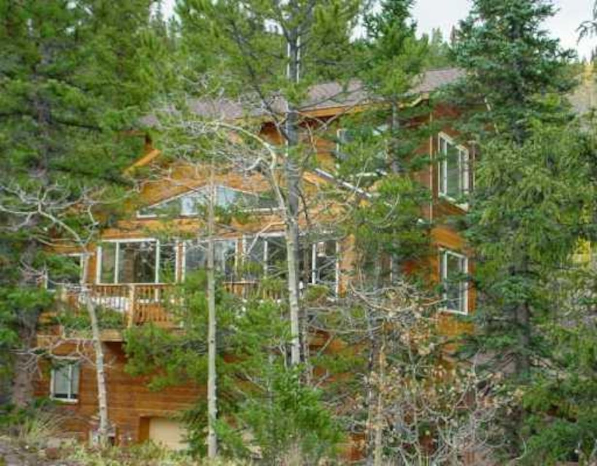 Nestled in aspens and pines is the Treehouse- a 4 story luxury home, made for families and large groups