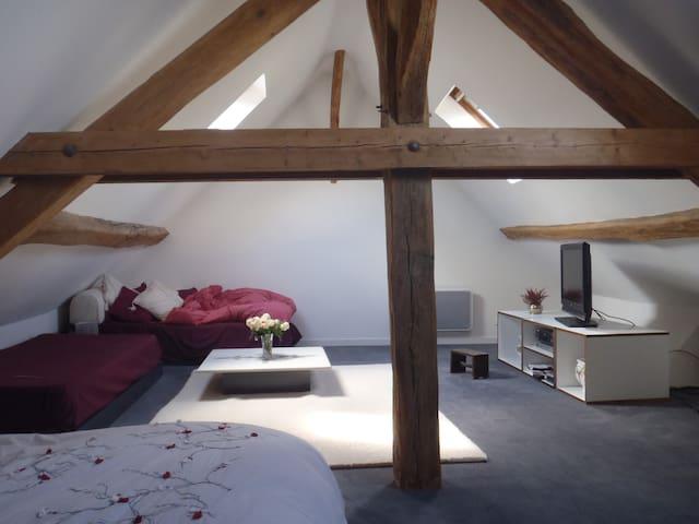 Chambre très spacieuse et lumineuse - Chailly-en-Bière