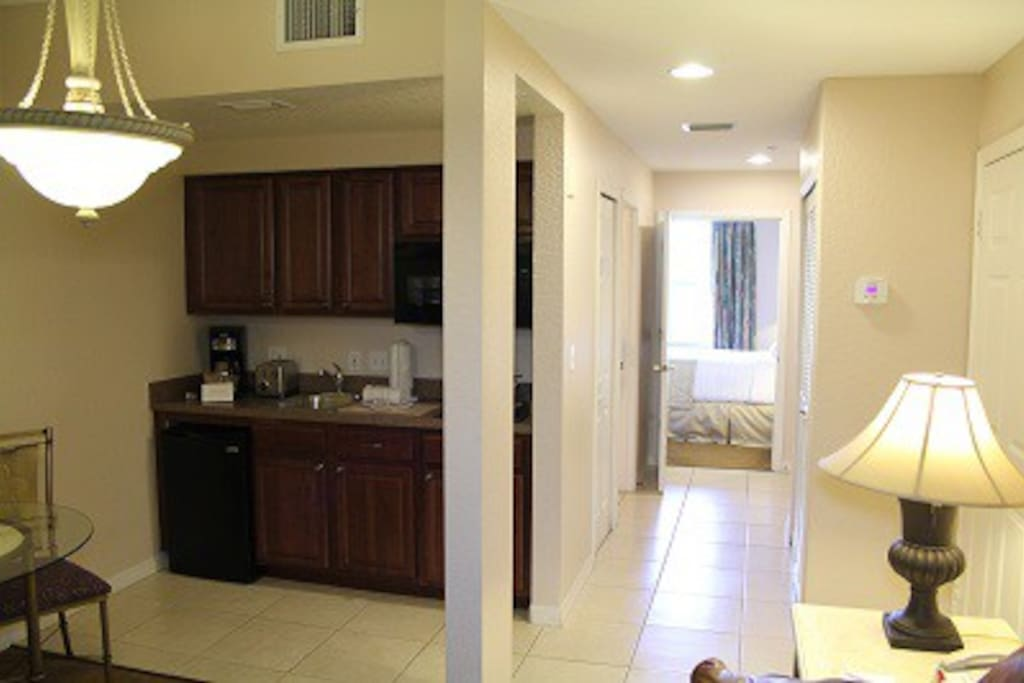 Kitchenette for home away from home experience