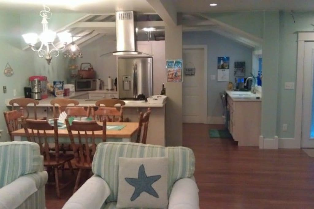Look at Dining room and open kitchen