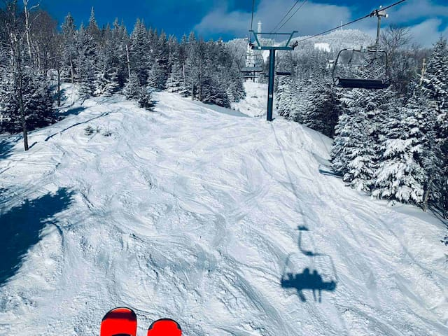 Tremblant Ski hills view from the chair lift