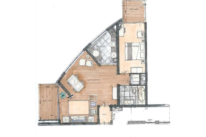 Appt Plan without adjacent apartment