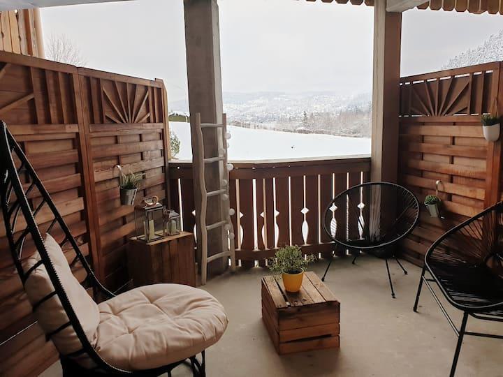 Bel appartement avec vue sur lac et piste 4/6 pers