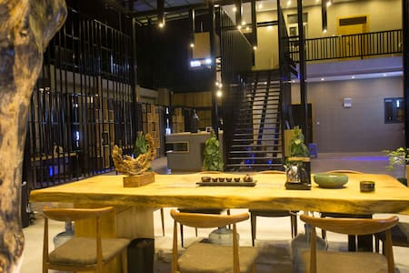 曾厝垵环岛路上的开放式社交主题型艺术空间_ 创意大床房 - Xiamen - Domek parterowy