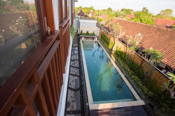 Pool View Guesthouse in Legian #2 @BIsmahouse