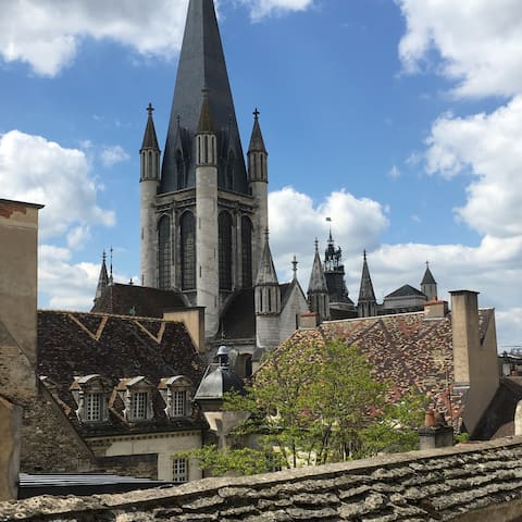 Home under the Burgundian rooftops