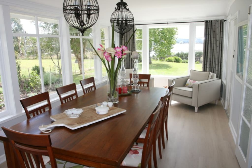 Dining Room with stunning views of Georges Bay.