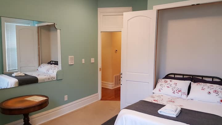 Blue Spruce Room Queen Bed at BnB in CWE!