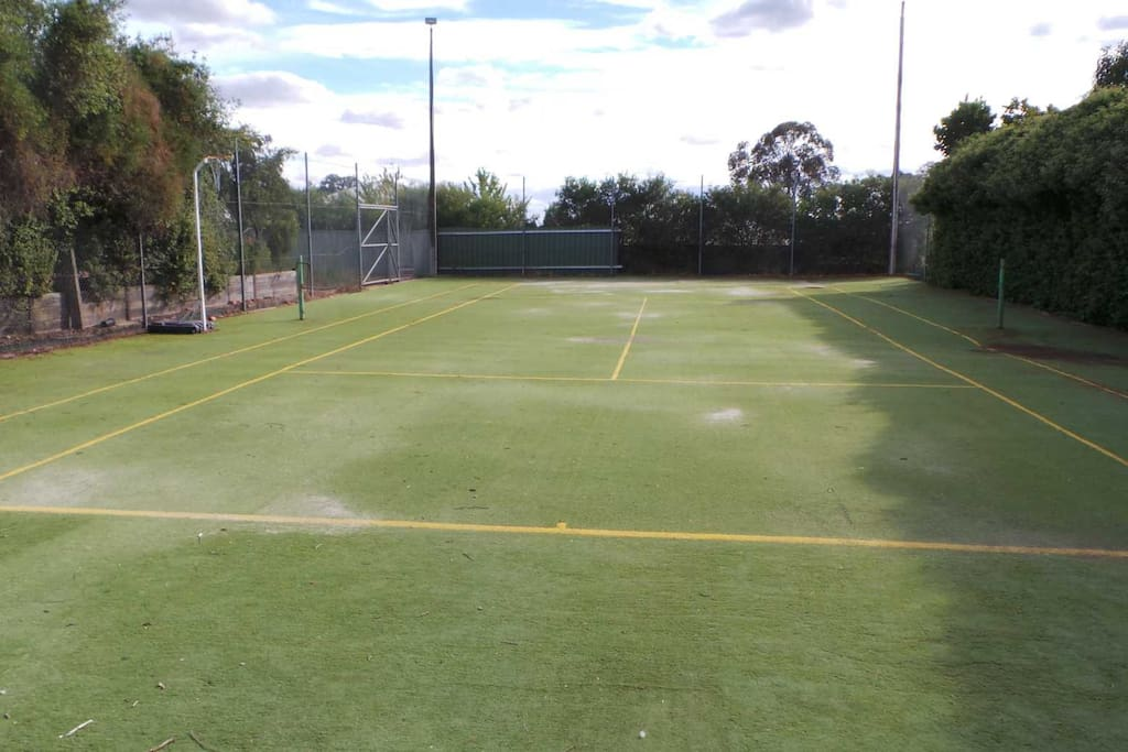 Tennis court for a bit of exercise!