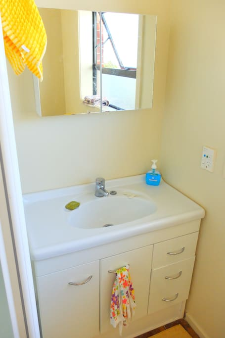 one bathroom with shower and toilet