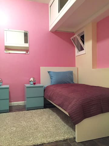 Stylish and cute girly shared room in Manhattan