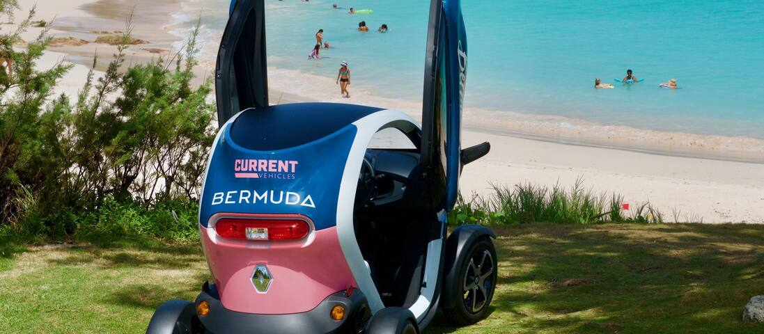 Rent a Twizy - a 2 person electric vehicle - and charge it while you sleep!