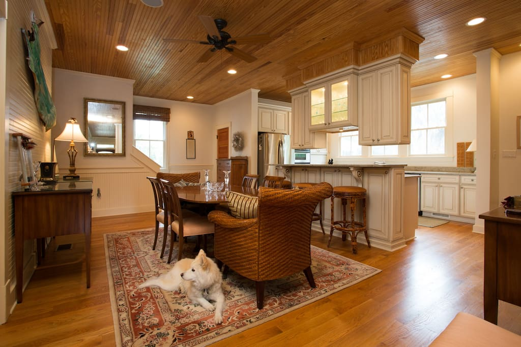 Followed by a spacious, comforting, dining room and kitchen.
