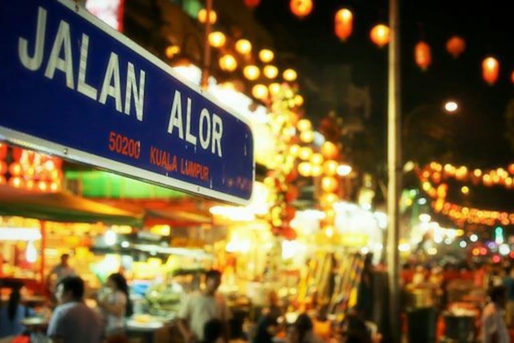 Jalan Alor is 500m away