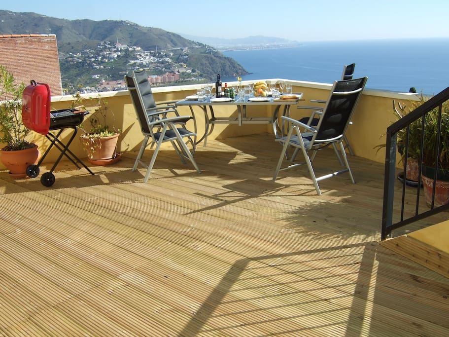 decked terrace with wonderful sea iew